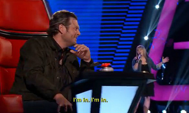 Blake Shelton and Holly Tucker on The Voice