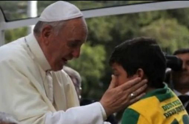 Pope Francis and Nathan de Brito