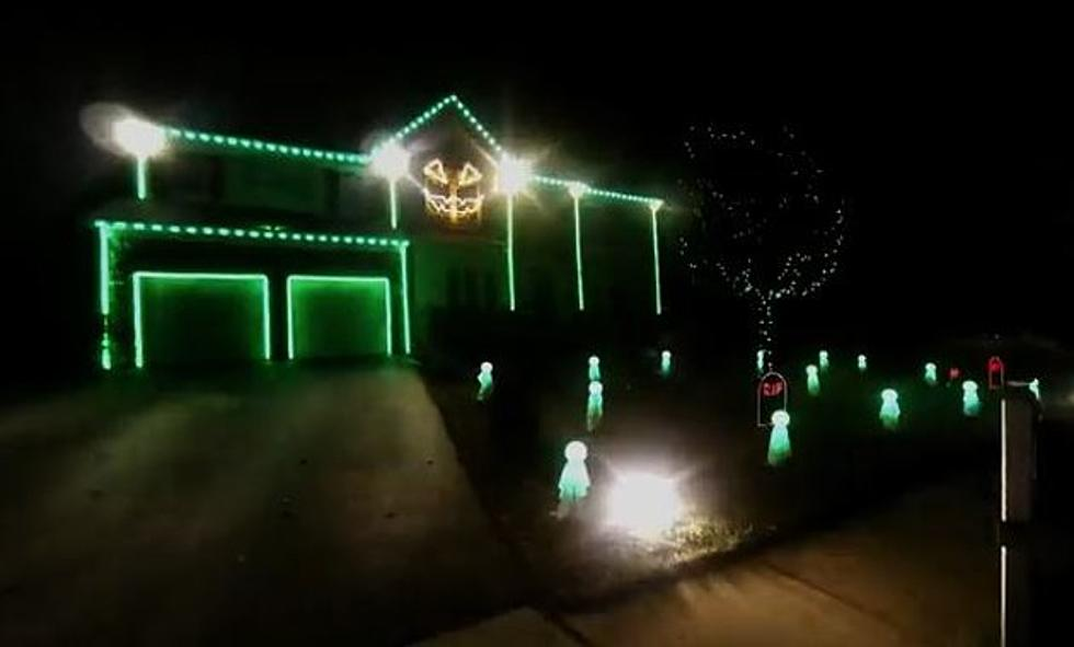 amazing musical halloween light display is a real treat