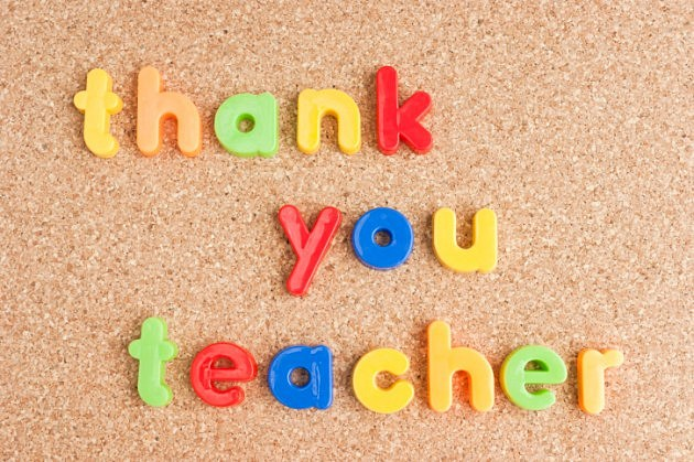 Thanks You Teacher Cork Board-Credit-iStock-177009070